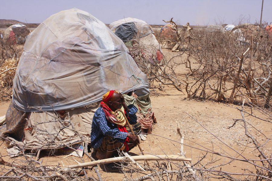 James Jeffrey/IPS | En äldre man i ett läger för internflyktingar i närheten av staden Gode i Etiopien.