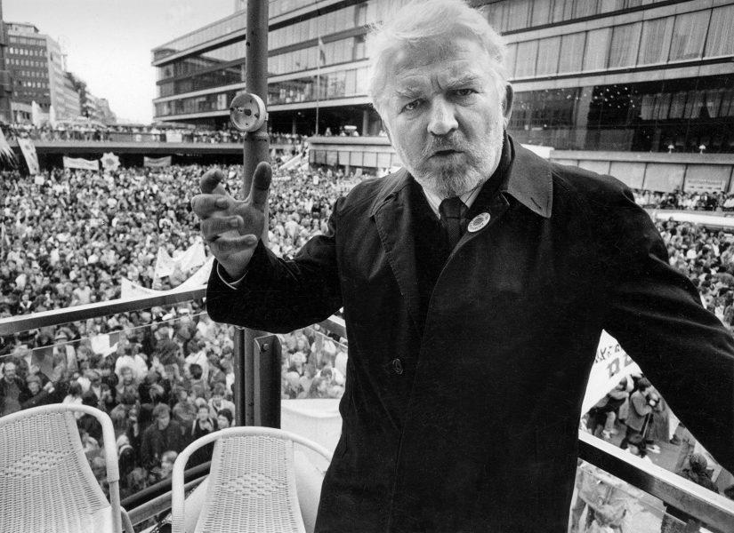 Kent Östlund/ | Hasse Alfredson på demonstration efter Tjernobylolyckan 1986.