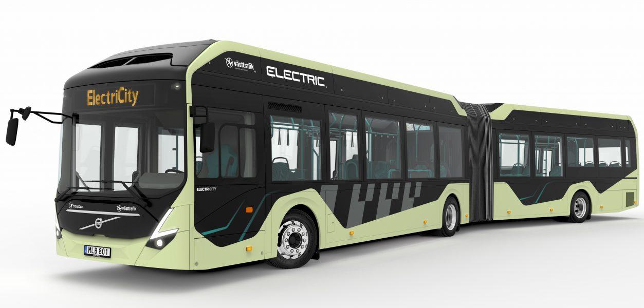 Volvo bussar   Från och med juni kommer linje 16 att få två nya, helt eldrivna ledbussar.
