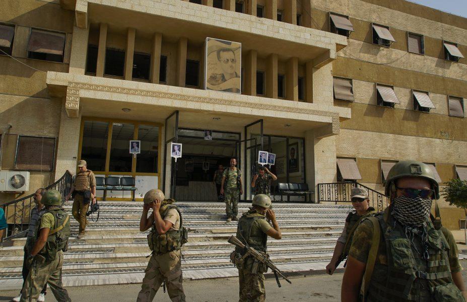 AP/TT |Ryska soldater i Syrien.