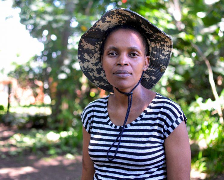 Mark Olalde/IPS  Nonhle Mbuthuma är ordförande för den kommitté som majoriteten av invånarna i Amadiba har bildat för att få rätt att besluta om eventuell gruvdrift på marken de bor på och brukar.