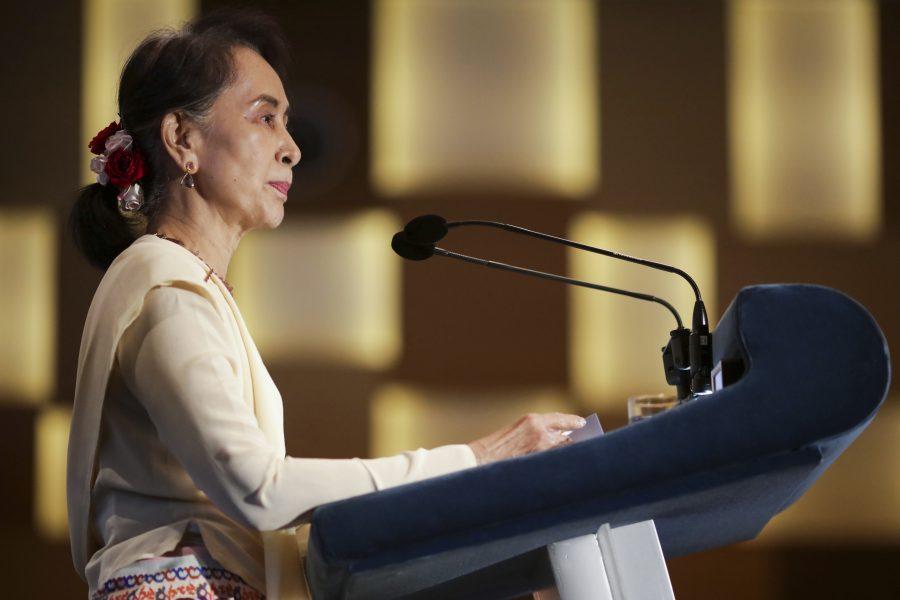 Don Wong/AP/TT  Aung San Suu Kyi har inte kommenterat fängelsedomen mot de två Reutersjournalisterna.