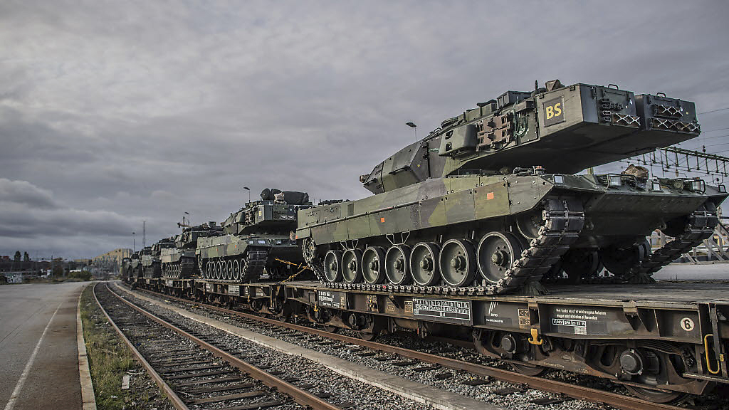 I oktober ses militärfordon på vägarna i länet.