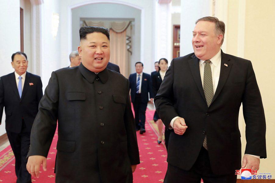 Korean Central News Agency via AP/TT |Nordkoreas ledare Kim Jong Un träffade USA:s statssekreterare Mike Pompeo i början på oktober för att diskutera nedrustning av Nordkoreas kärnvapen.