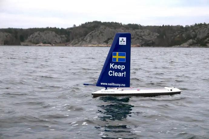 SLU-drönaren Aqua Sailor har testats i skarpt läge i Kattegatt i december.