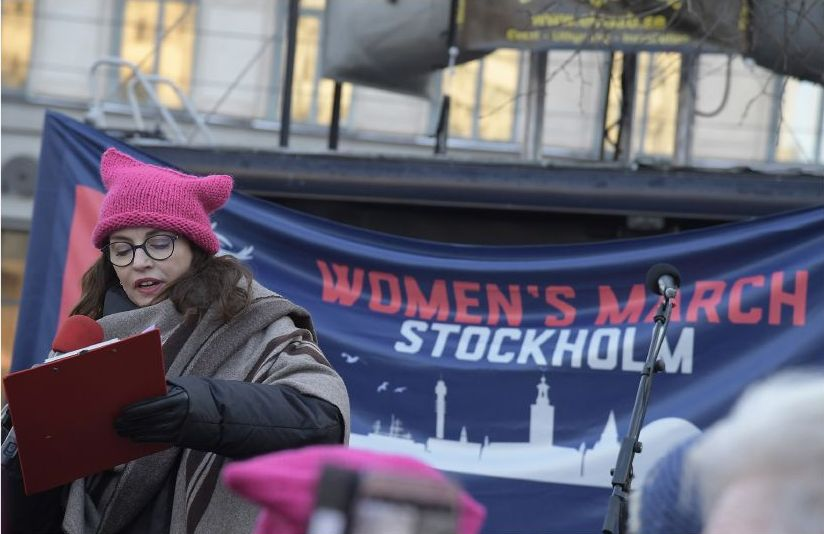 Women's march - den tredje marschen på lördag.