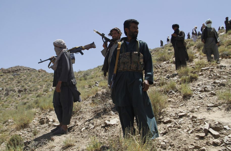 Allauddin Khan/AP/TT |En grupp talibaner i Afghanistan.