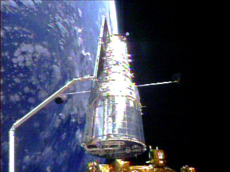 Rymdteleskopet Hubble servades för sista gången 2009.