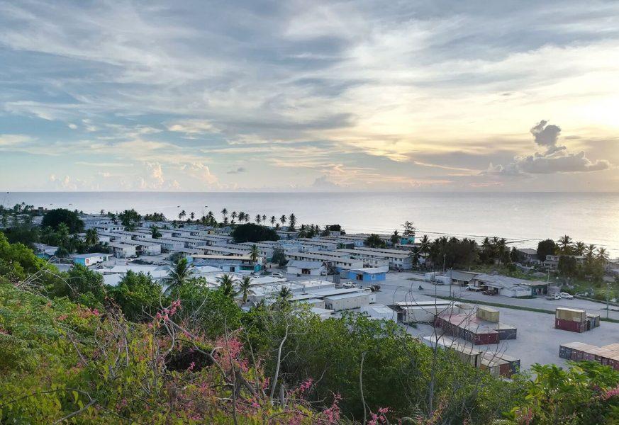 Bild av anläggningar på Nauru tagen av Läkare utan gränser (MSF) i augusti förra året.