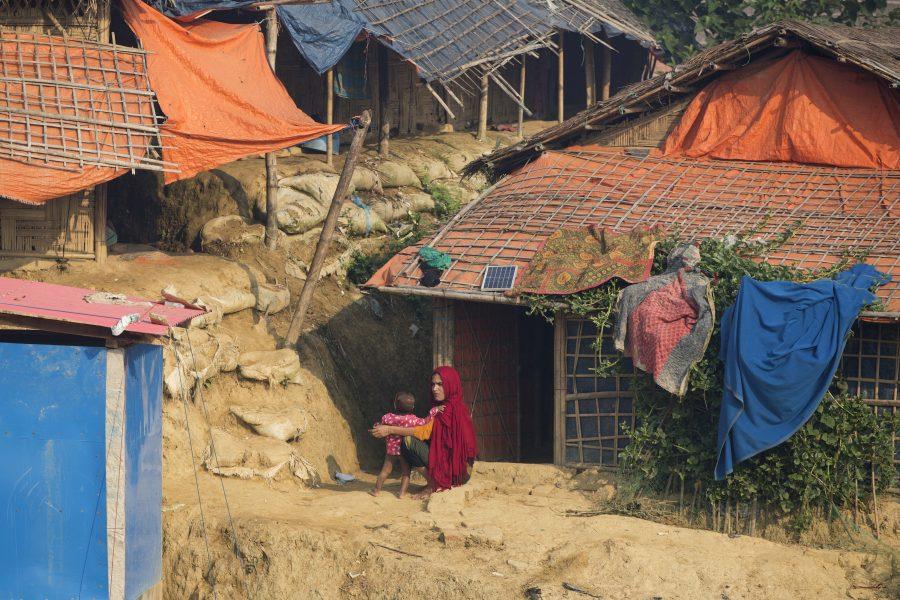 Ett av de läger i trakten av Cox's Bazar i östra Bangladesh där rohingyer som flytt från Myanmar bor.