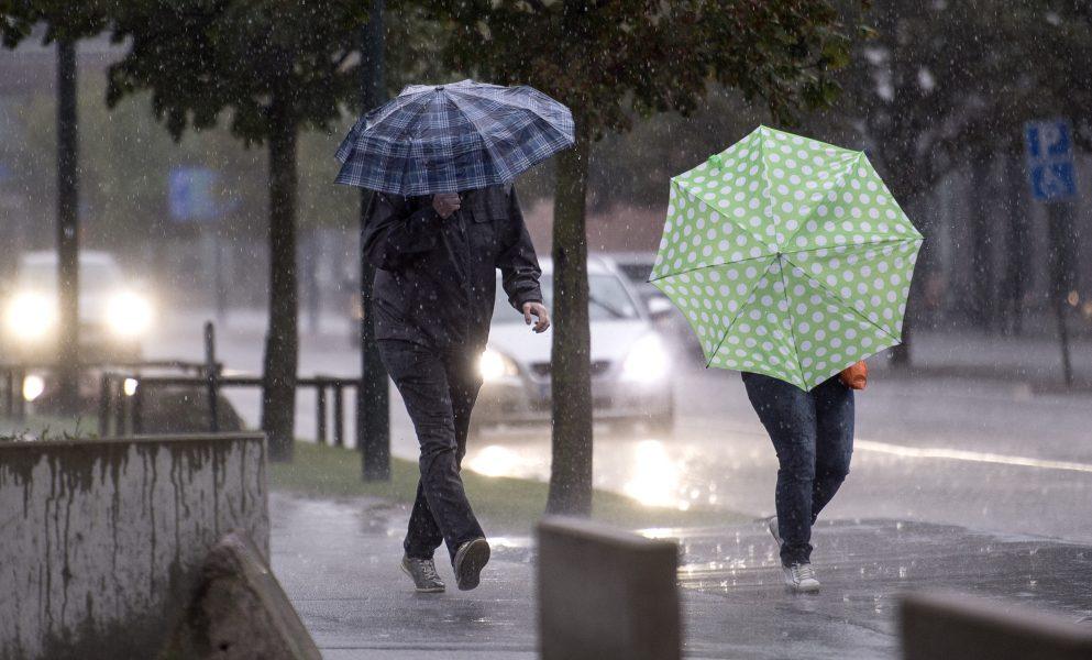 Långhelgen bjuder på ostadigt, regnigt väder och kyliga temperaturer.