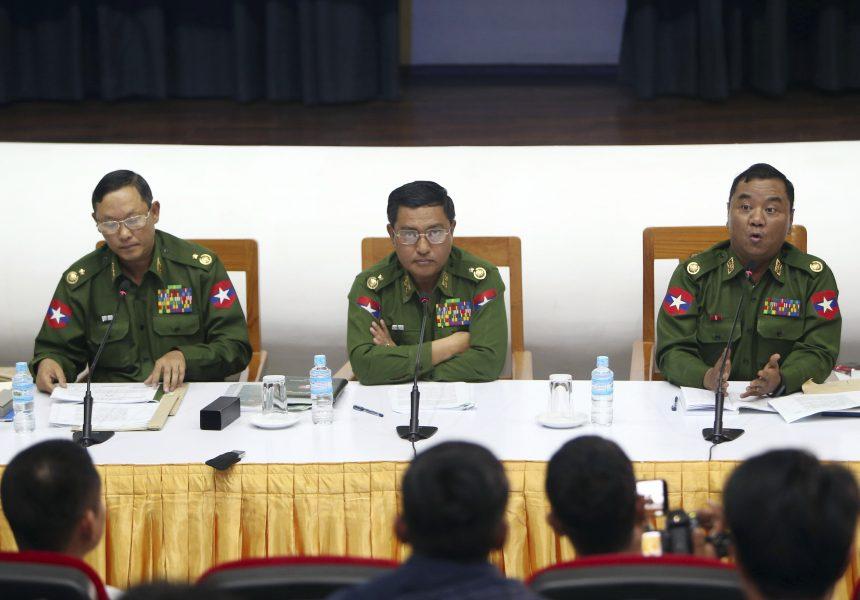 Mynamars militär har sedan januari i år stridit mot lokala styrkor i Rakhine.