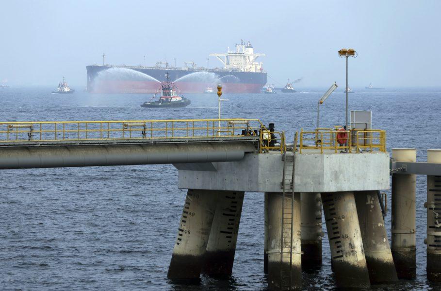 Ett oljefartyg utanför Förenade Arabemiratens kust.