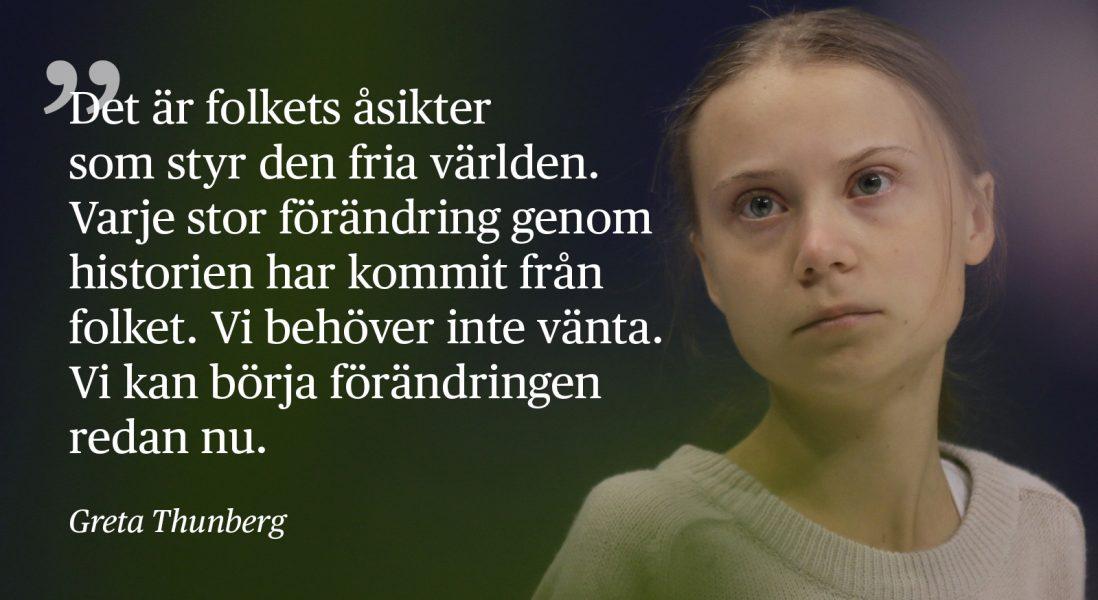 Greta Thunberg talade inför delegater vid FN:s klimatmöte COP25 i Madrid på onsdagen.
