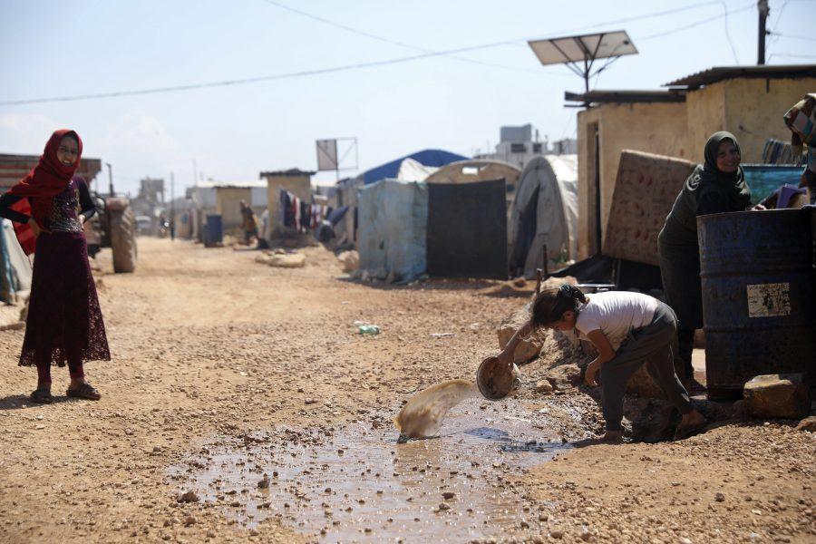 Flyktingar i Atma i norra Syrien.