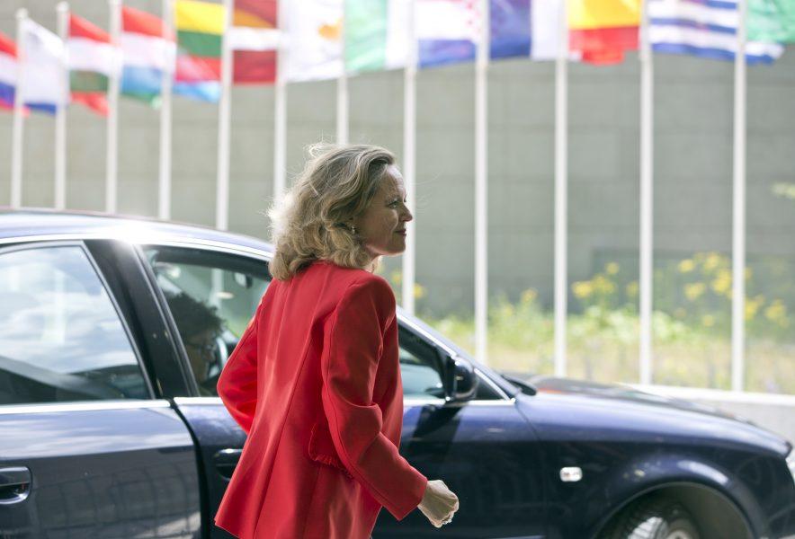 """""""Vår ambition är att basinkomst blir ett verktyg som blir bestående, ett strukturellt, permanent verktyg"""", säger Spaniens finansminister och vice statsminister Nadia Calvino."""