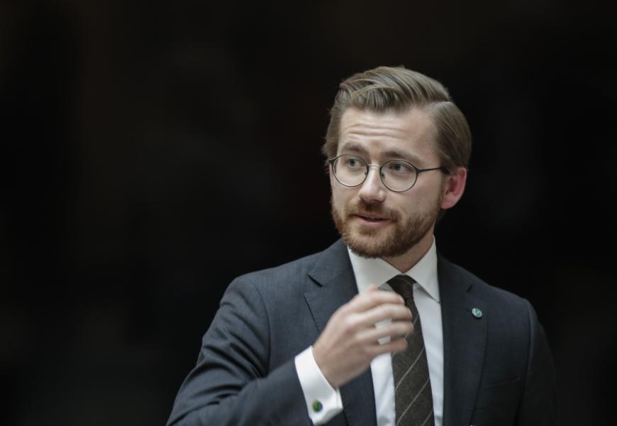 Norges klimat- och miljöminister Sveinung Rotevatn (Venstre).