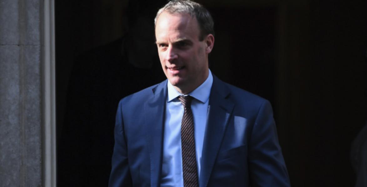 Storbritanniens utrikesminister Dominic Raab.