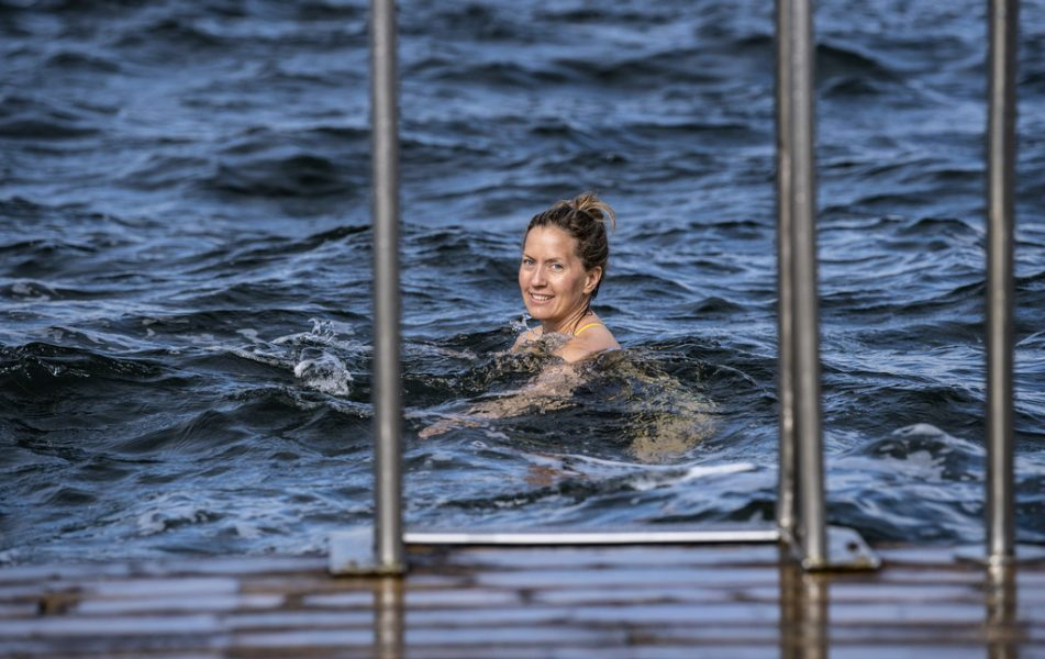 """""""Jag är egentligen rätt frusen av mig och lite av en badkruka"""", säger Helena Kubicek Boye."""