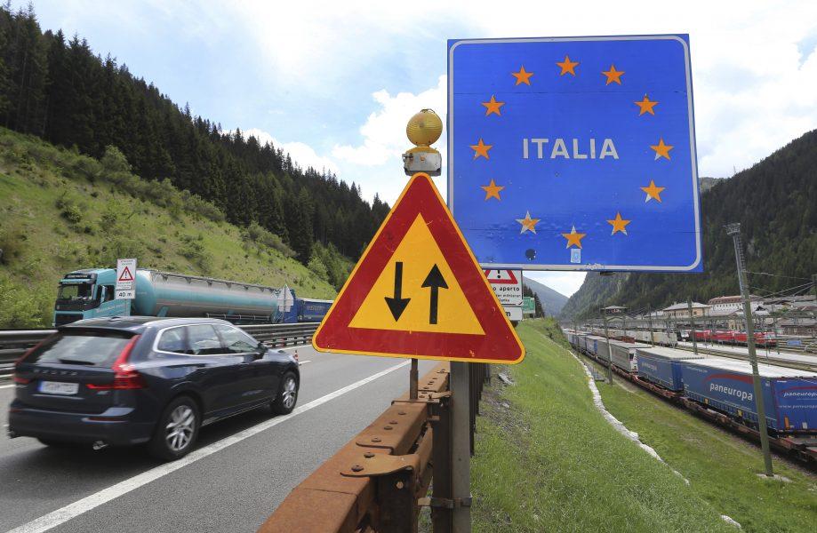Gränsen mellan Österrike och Italien har öppnats igen – åtminstone för den som vill åka till Italien.