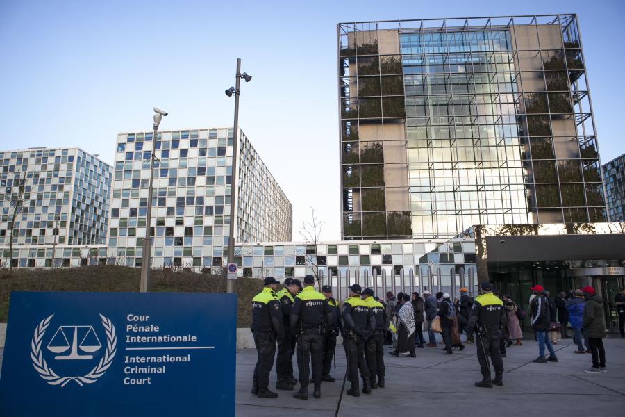 Internationella brottmålsdomstolen i Haag, Nederländerna.