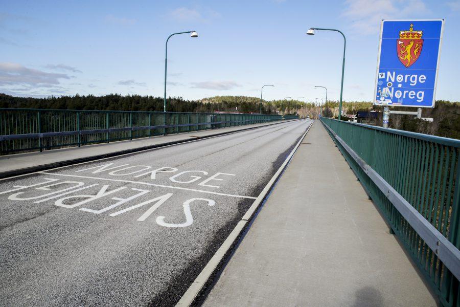Gränsen mellan Sverige och Norge.