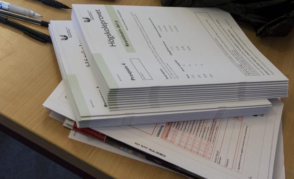 Platserna till årets högskoleprov lottas ut.