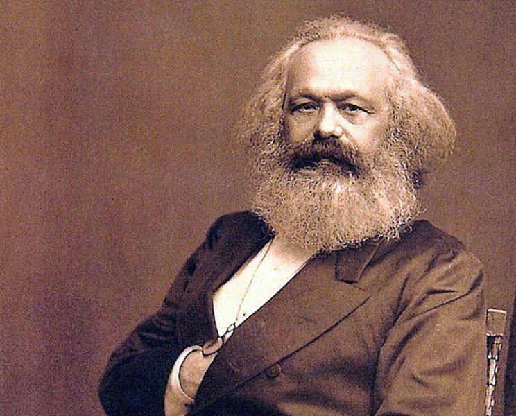 Karl Marx, den socialistiska vänsterns stora förebild.
