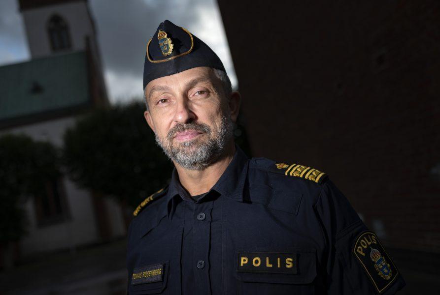 Tomas Rosenberg, polismästare / HR-chef, med ansvar för polisens långsiktiga kompetensförsörjning fotograferad i Hörby.
