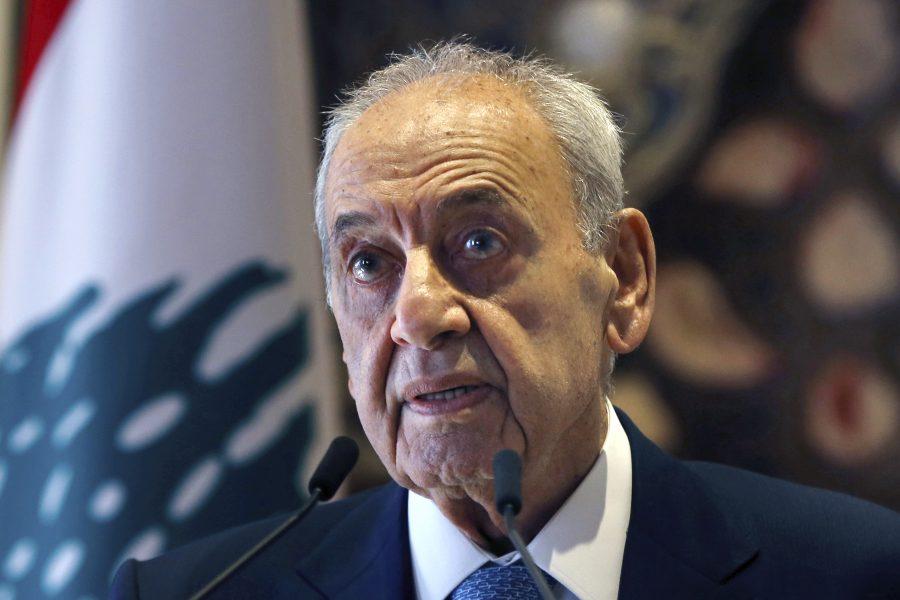 Libanons talman i parlamentet, Nabih Berri.