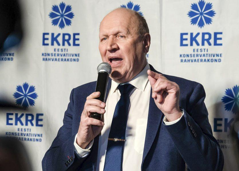 """Estlands nationalistiske inrikesminister Mart Helme tycker att landets homosexuella kan """"sticka till Sverige""""."""
