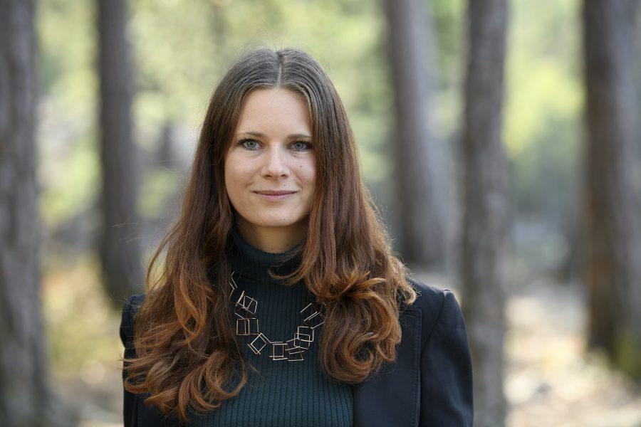Rebecka Le Moine (MP) är en av flera riksdagsledamöter som nämner basinkomst i sina motioner.