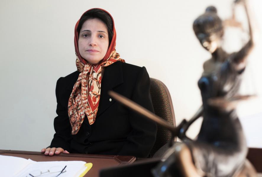 Den iranska människorättsjuristen Nasrin Sotoudeh på en bild från 2008.