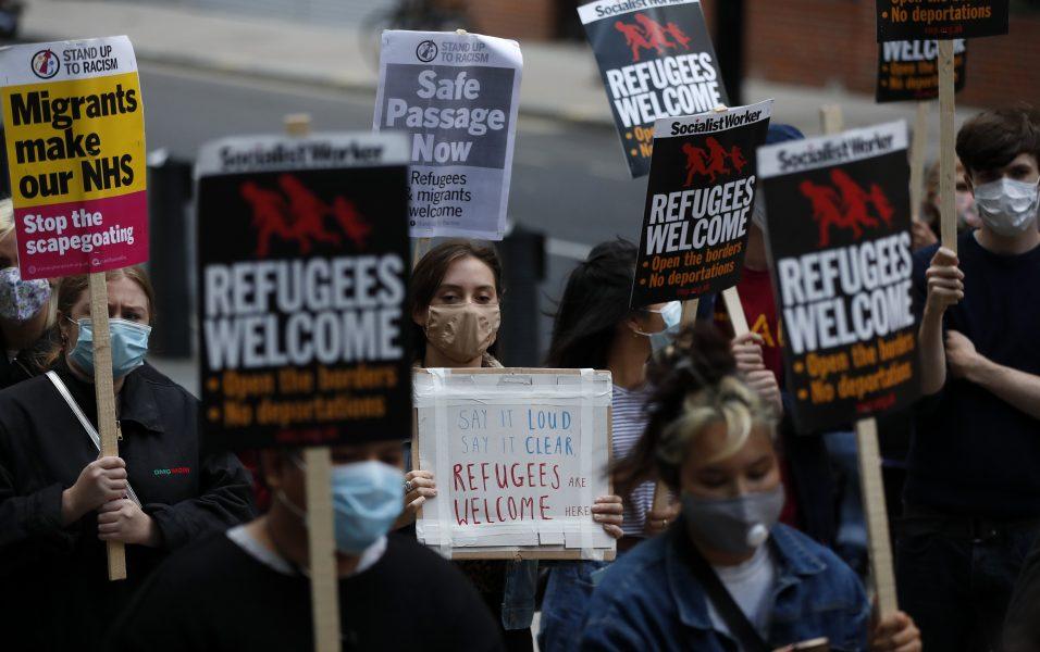 Protester i London i somras för att fler flyktingar ska erbjudas en säker väg till Storbritannien.