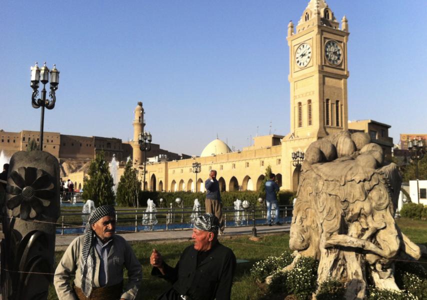Regionhuvudstaden Erbil i irakiska Kurdistan.