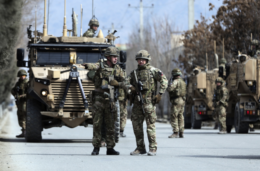 Brittiska soldater på plats i Kabul i Afghanistan.