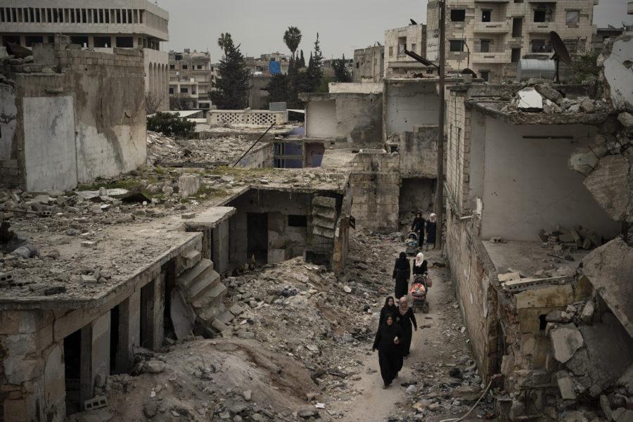 Civil infrastruktur har attackerats genom hela kriget i Syrien.