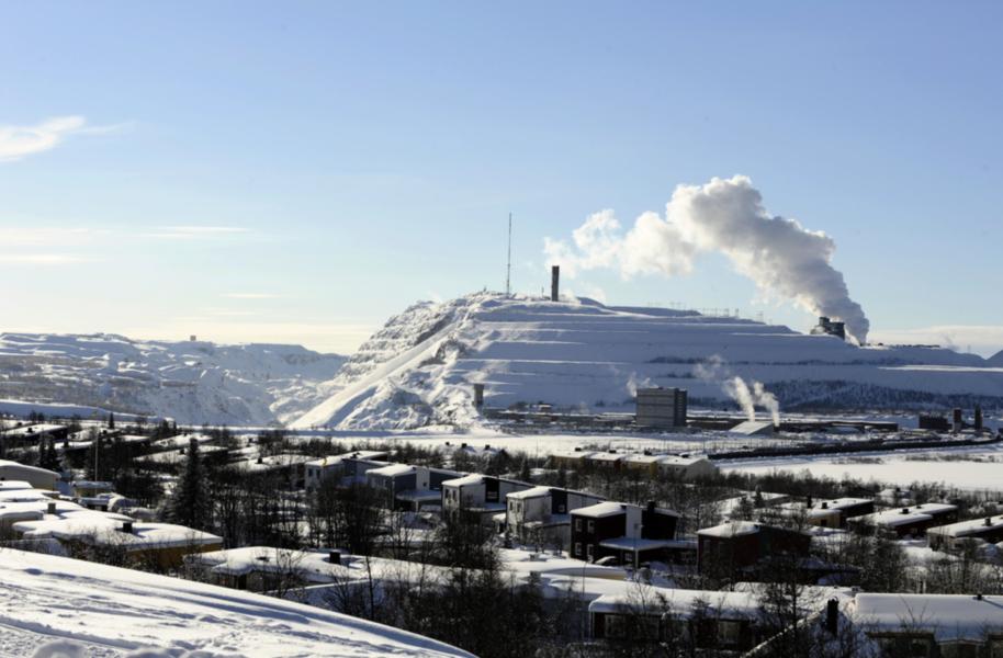 LKAB:s gruva i Kiruna.
