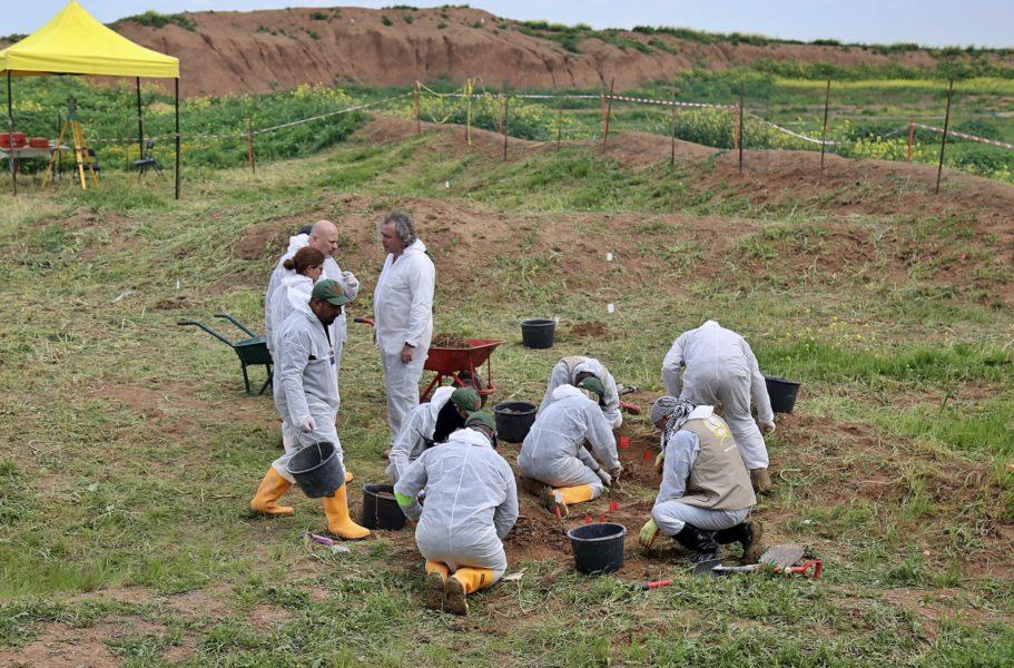 Irak har öppnat en massgrav i Nineveh-provinsen för att identifiera de personer vars kvarlevor finns i graven.