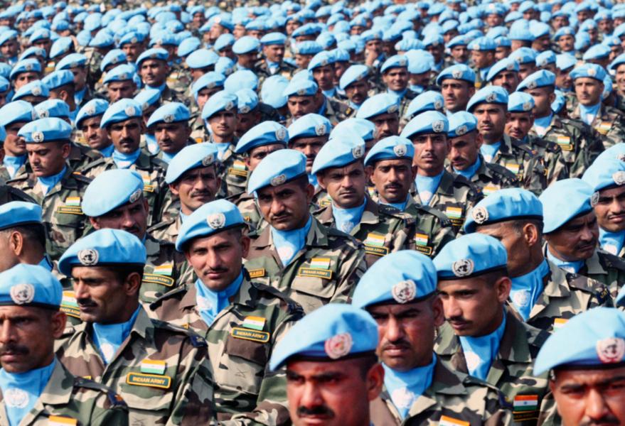 Indiska fredsbevarande soldater.