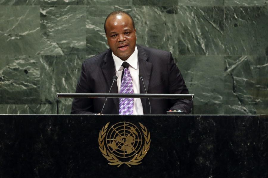 Kung Mswati III i FN:s generalförsamling 2019.