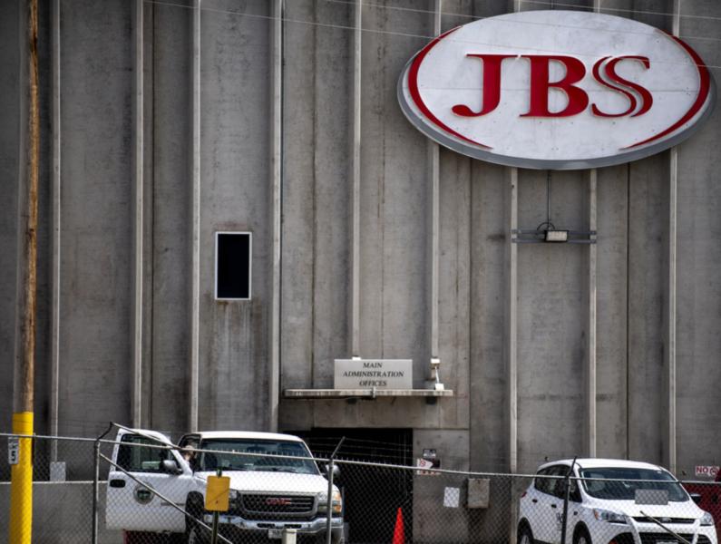 En JBS-anläggning i USA.