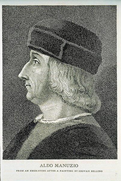 Aldus Manutius införde semikolonet 1494.