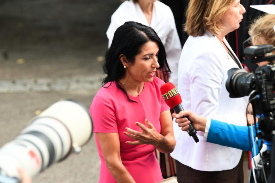 Amineh Kakabaveh, oberoende ledamot i riksdagen.