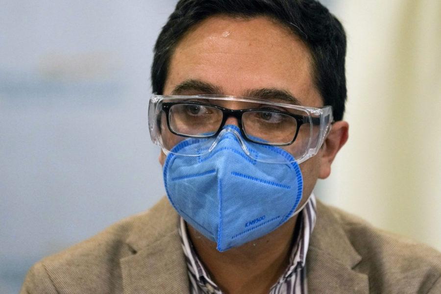 Juan Francisco Sandoval höll en presskonferens innan han lämnade landet.
