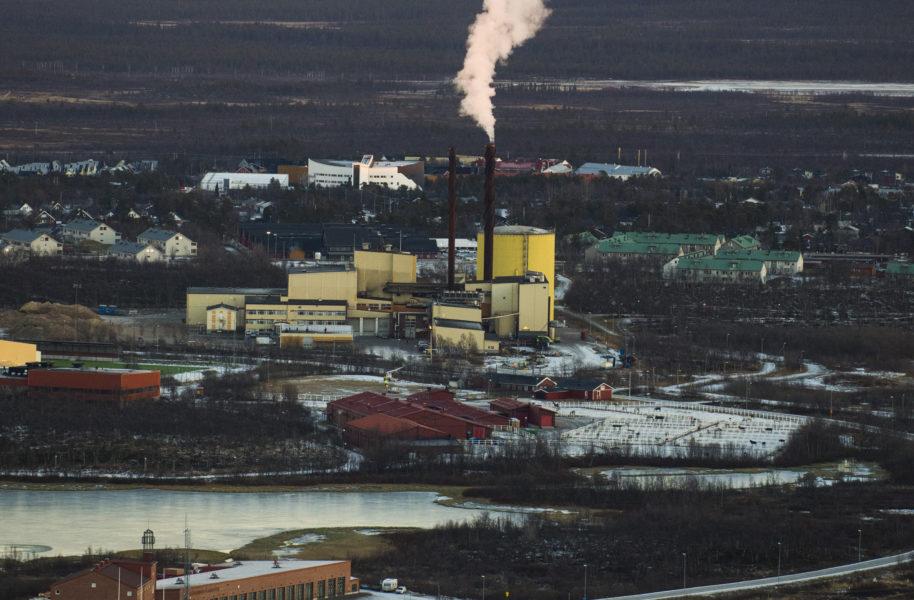 Översiktsbild av LKAB:s gruva i Kiruna.