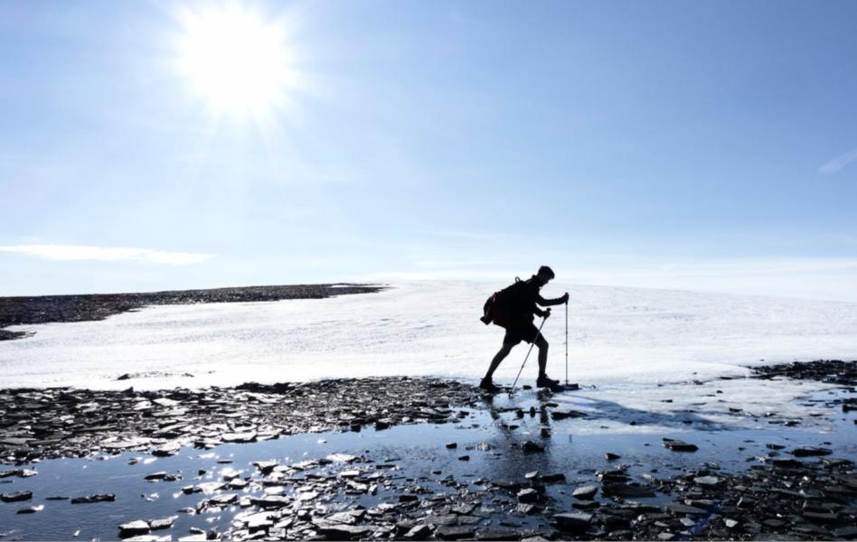 Glaciärerna i Jämtland är på att smälta bort.