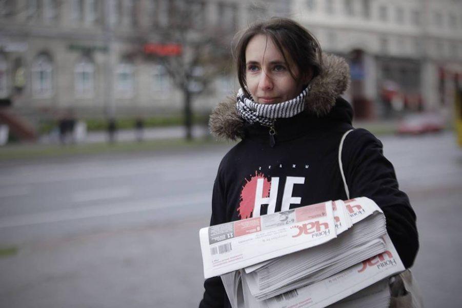 Den belarusiska aktivistenNasta Lojka greps i fredags i Minsk.