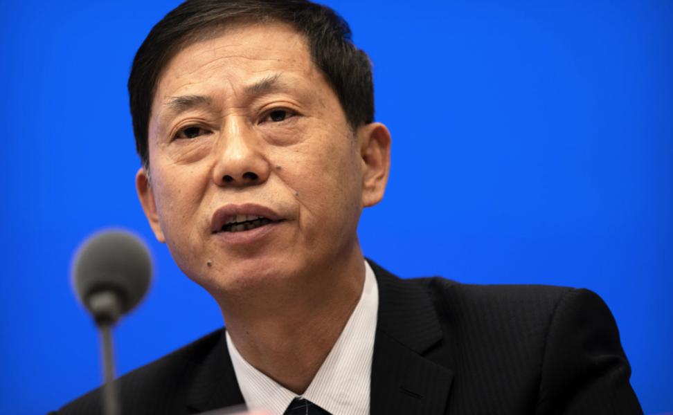 Yuan Zhiming, chef för det nationella biosäkerhetslaboratoriet i kinesiska Wuhan, vid en presskonferens i somras.