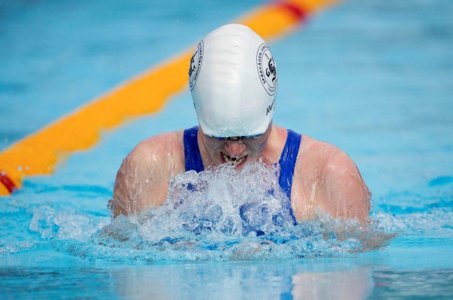 Maja Reichard under SM  i simning 2017.